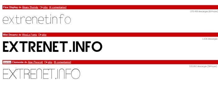 Tipografías diferentes invaden la web
